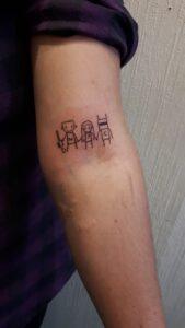 tetování die antwoord isketch