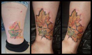 cover barevné tetování listy newschool