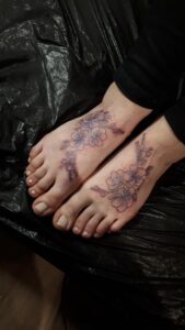 tetování květiny newschool