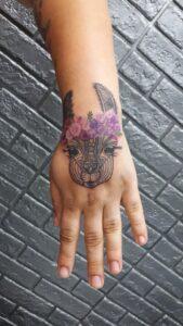 tetování růže lama mandala