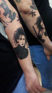 blackwork tetování střihoruký edward
