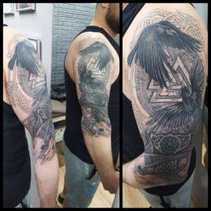 havrani lebky tetování severské newschool