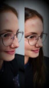 nostril piercing výměna šperku