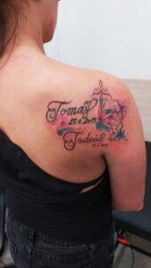 watercolor mandala tetování