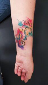 watercolor tetování plzeň psí tlapky
